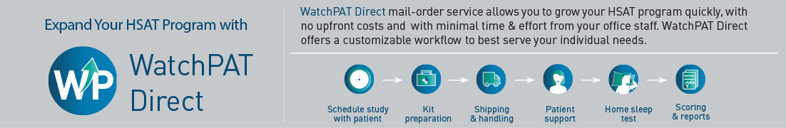 WatchPat direct - Severe obstructive sleep apnea diagnosis improves patient compliance with Sleep apnea Diagnosis for Cardiology practise follow up and sleep health management plans.